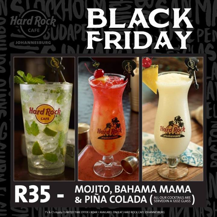 Hard Rock Cafe Johannesburg Black Friday 2017