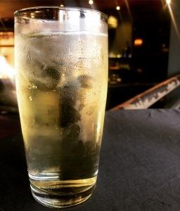 Jameson Irish Whiskey and lemonade